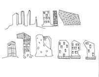architectural sketches   VOSTOK DESIGN studio