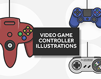 Video Game Controller Illustrations