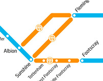 Schematic of temporary changes to train services