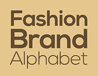 Fashion Brand Alphabet