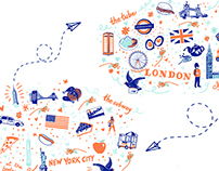 NYC - London Stationary Set