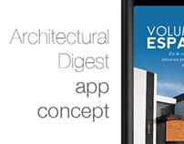 Architectural Digest - App concept