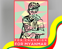 Aung Thu , Striker , Myanmar Football Team