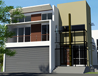 Proposed House in Kalubovila, Sri Lanka  -  3D views