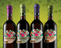 """Bulgarian wine, """"Flowers"""" collection"""