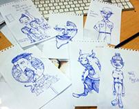 Blue Pen Doodling