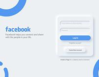 Neumorphism soft UI Design Facebook