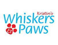 Kristin's Whiskers & Paws Logo