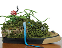'SIBALOM' shoe diorama for Pointer Footwear