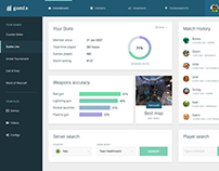 Admin dashboard for gaming platform