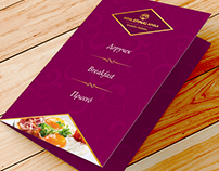 Breakfast menu design, for Hotel EPINAL