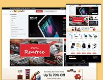 Afriqcart -Home Page Design