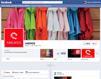 // Facebook Page and other social networks for ANEMOS