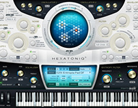 Hexatoniq 3 VST plugin UI Design