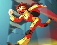Running Girl Character Design