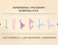 Judeka Experimental Typeface