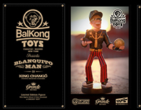 Balkong Toys. 1st Collection. BLANQUITO MAN