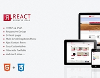 React – Responsive HTML5 Template