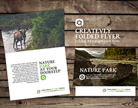Folded A4 nature park flyer