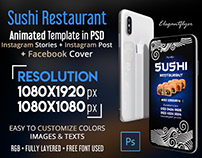 Sushi Restaurant – Free Animated Instagram Stories + In