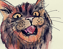 Wild Cats Paintings