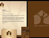 Woodland Homes Letterhead and Business Card
