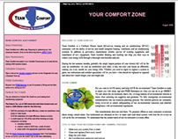 Team Comfort E-mail Newsletter/Landing Page