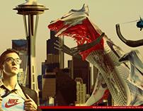 Nike Zoom Poster - Meet the NikeZilla
