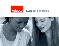 Club Adecco web design