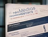 Event Poster - Forum Néomédia Nouveaux Métiers