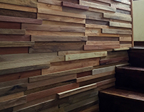 Wooden wall stairs