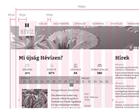 Hévíz.hu redesign