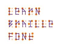 LEARN BRAILLE FONT