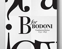Poster // B for Bodoni
