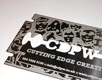 CDPW Aluminum Business Cards