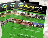 Diseño cartelería y guías turísticas para Aiaratur