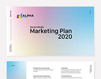Project: Digital Marketing Plan. Alpha Color 2020.