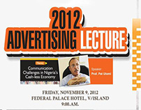 ADVERTISING DAY LECTURE 2012