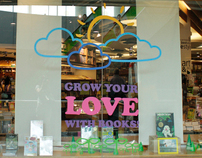 Grow your Love with Books. Window display