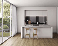 High quality 3DDesign. Stylish kitchen with Wall window