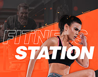 Fitness Station Concept Design: Web and UI/UX