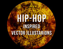 HIP-HOP inspired vector illustrations