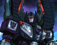 Digital coloring practice Transformers Armada Megatron