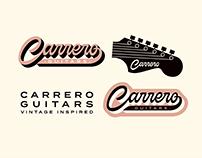 Carrero Guitars logo & branding