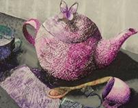 News Paper Teapot