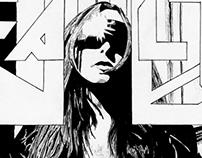 FAULT Magazine Ink Sketch