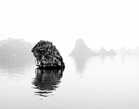 Halong Bay in High Key Photography