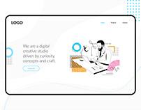 Landing page website Creative studio