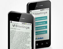 Interface - App Mobile VMeeting