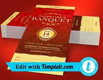 Red Valentines Banquet Ticket Templett